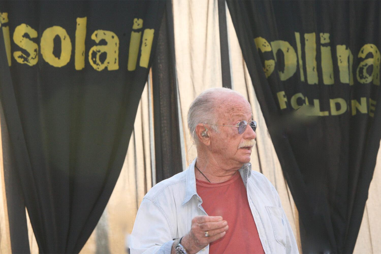 Gino Paoli sul palco de l'isola in collina 2017 prove