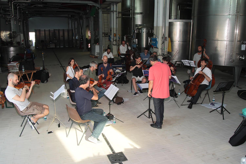 Orchestra prove in cantina de l'isola in collina 2017